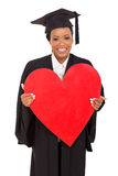 College graduate heart shape Royalty Free Stock Image