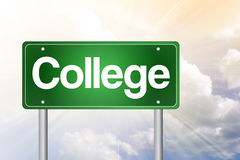 College Green Road Sign, education Royalty Free Stock Images