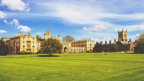 College grounds in Cambridge, UK Royalty Free Stock Image