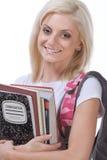 College or High school schoolgirl woman student Stock Photography