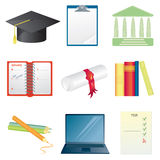 College icon set Stock Photos