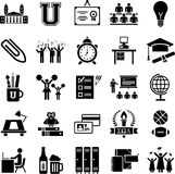 College icons. This is a collection of college icons Royalty Free Stock Photography
