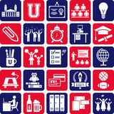 College icons Royalty Free Stock Photos