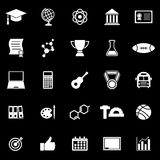 College icons on black background Stock Photo