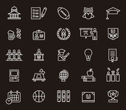 College icons set Royalty Free Stock Photos