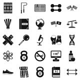 College icons set, simple style. College icons set. Simple set of 25 college vector icons for web isolated on white background Stock Image