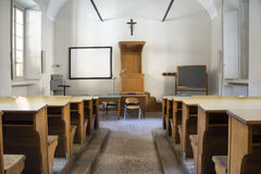 College-Klassenzimmer Stockbild