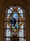 College- kyrka av St Denis av Liege Arkivfoton