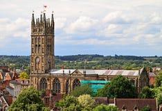 College- kyrka av St Mary, Warwick Arkivfoto
