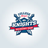 College league sport team logo apparel concept Royalty Free Stock Photo