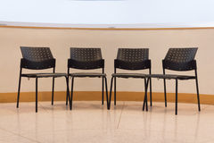 College lecture black chair Stock Image