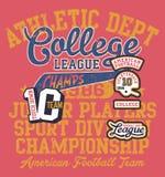 College-Ligameister des amerikanischen Fußballs Kinder Lizenzfreie Stockbilder