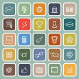 College line flat icons on green background Royalty Free Stock Photo