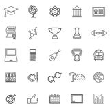 College line icons on white background Stock Photo