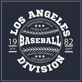 College Los angeles division sport baseball, t-shirt graphics. Royalty Free Stock Photography