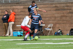 College NCAA DIV III Men's Soccer Royalty Free Stock Photo