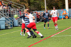 College NCAA DIV III Men's Soccer Stock Image