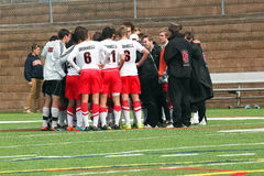 College NCAA DIV III Men's Soccer Royalty Free Stock Image