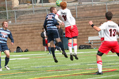 College NCAA DIV III Men's Soccer Royalty Free Stock Photography