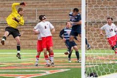 College NCAA DIV III Men's Soccer Stock Photos