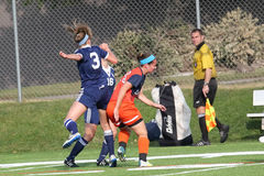 College NCAA DIV III Women's Soccer. Waukesha, WI, USA, 9/20/2014, Schneider Field, Carroll University Pioneers, NCAA Women's Soccer DIV III, Midwest Stock Image