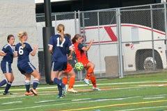 College NCAA DIV III Women's Soccer Stock Images