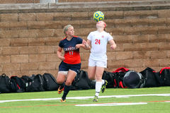 College NCAA DIV III Women's Soccer Stock Photo