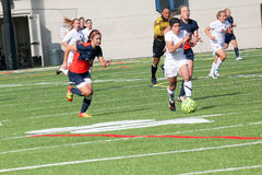 College NCAA DIV III Women�s Soccer Royalty Free Stock Image