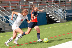College NCAA DIV III Women's Soccer Royalty Free Stock Photos