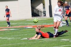 College NCAA DIV III Women's Soccer Royalty Free Stock Photos