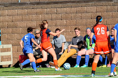 College NCAA DIV III Womens Soccer Royalty Free Stock Images