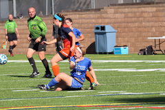 College NCAA DIV III Womens Soccer Royalty Free Stock Photo