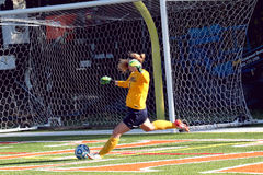 College NCAA DIV III Womens Soccer Royalty Free Stock Image