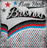 College New York Bronx typography, t-shirt graphics, vectors Stock Photography