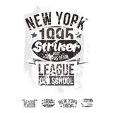 College New York team rugby retro emblem and design elements Stock Image
