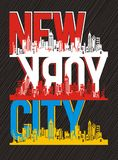 College New York, Vector image. College New York, T shirt Graphic, Vector Image Royalty Free Stock Photo