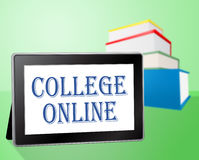 College Online Indicates Web Site And Books Royalty Free Stock Photography