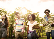 College Park Garden Togetherness Unity Friendship Concept.  Stock Photos