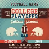 College playoffs football game Royalty Free Stock Photo