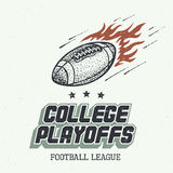College Playoffs Hand-drawn Illustration Stock Photography