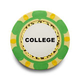 College Poker Chip Royalty Free Stock Photography