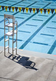 College Pool 1. Banner reading college draped over a pool (5720 royalty free stock photos