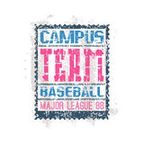 College print baseball team Royalty Free Stock Images