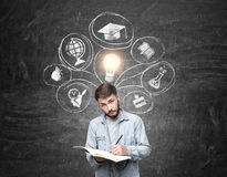 College professor and education sketches Royalty Free Stock Photos