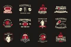 College rugby and american football team, campus Royalty Free Stock Images