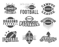 College rugby and american football team, college Stock Photo