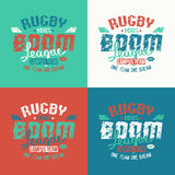 College rugby team emblem Stock Photography