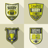 College rugby team emblems Stock Photography