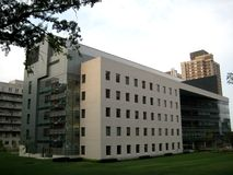 College's research and educational building. Picture of the research and educational buiding of the college in New York Stock Photo