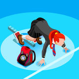 College School Kid Student Isometric Person Vector Illustration Royalty Free Stock Images